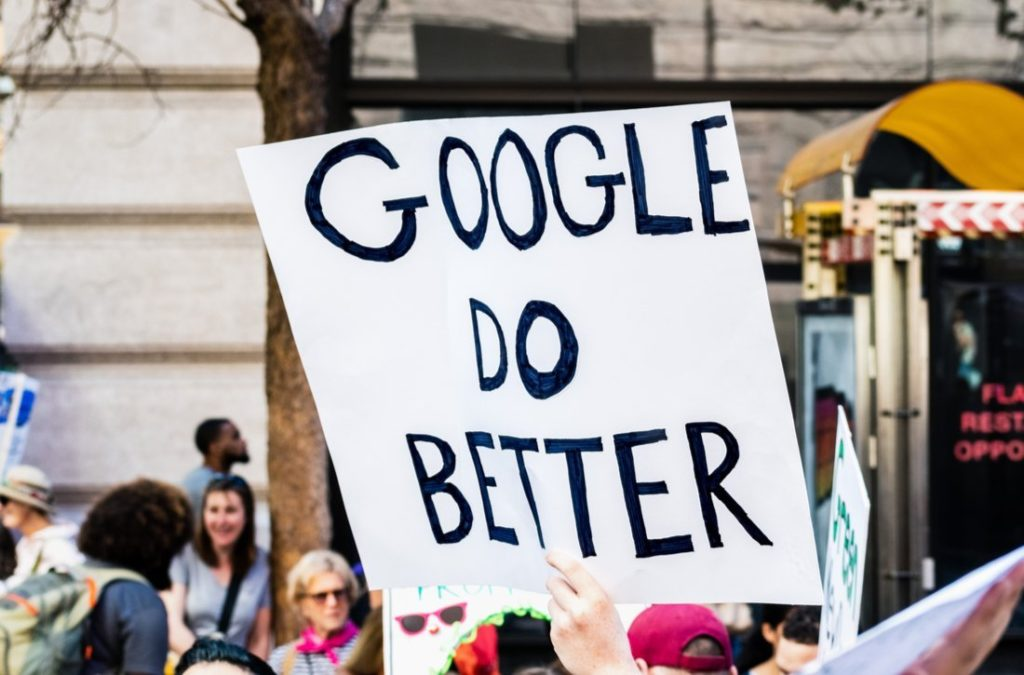 Protest against Google