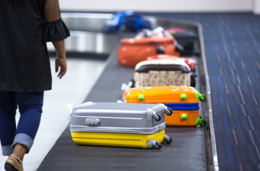 Luggage belt at airport terminal